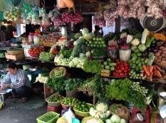 Street fruit stall in Saigon