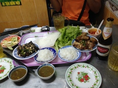 Dinner at a local Vietnamese restaurant.