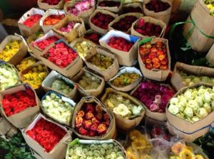 Flower market in Saigon