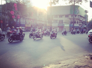 Scooters in morning