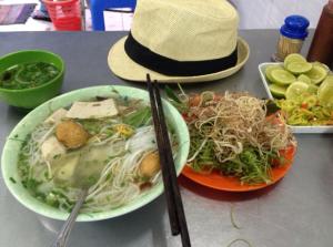 Noodles for breakfast in Saigon