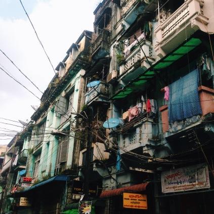 Street life, downtown Yangon