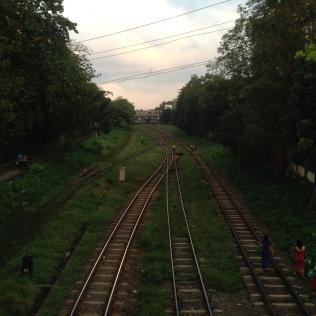 Tracks in Yangon